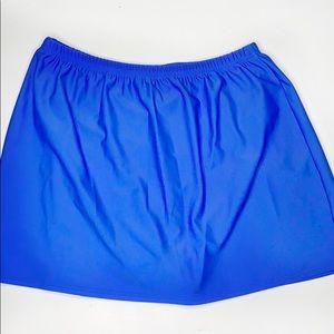 Christina swim skirt blue  12